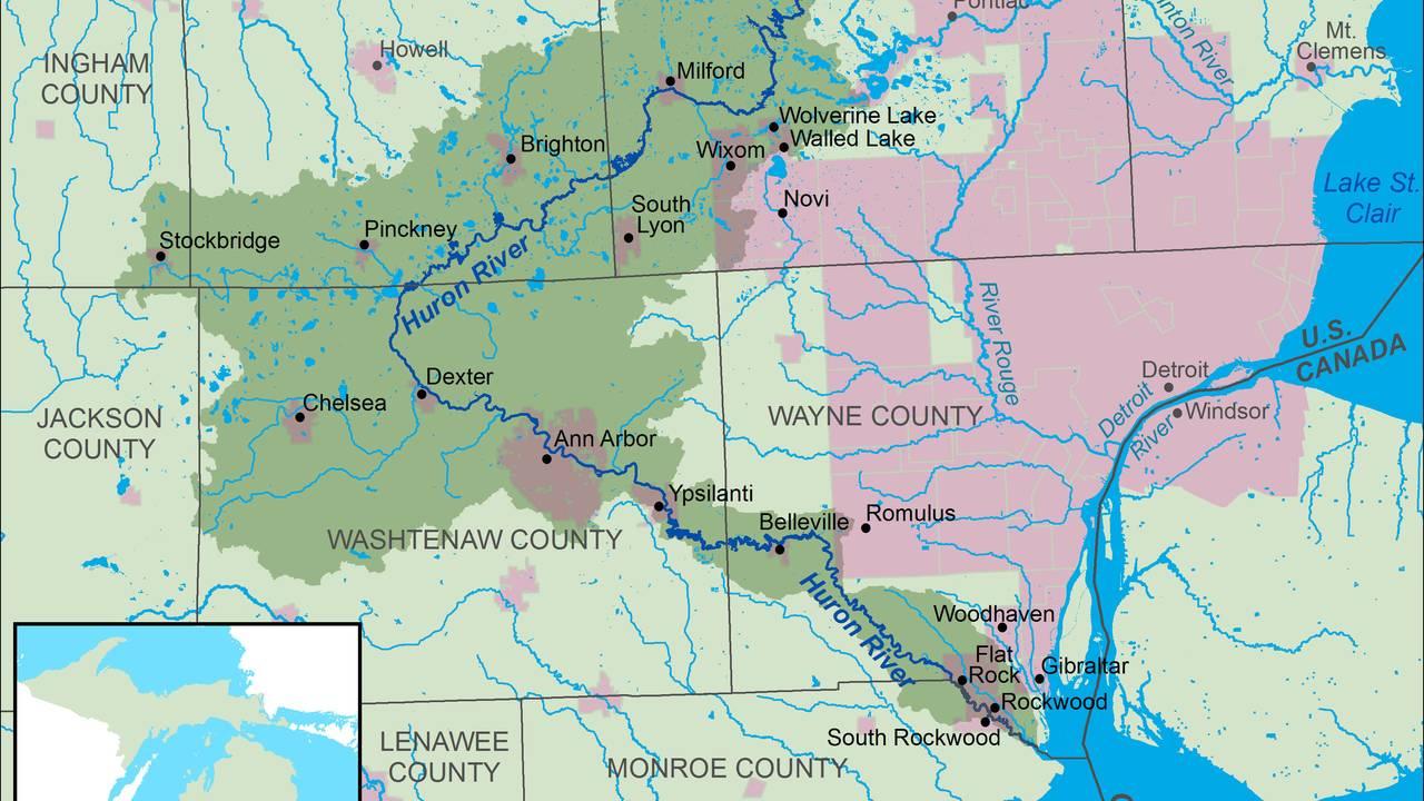 Huron River map