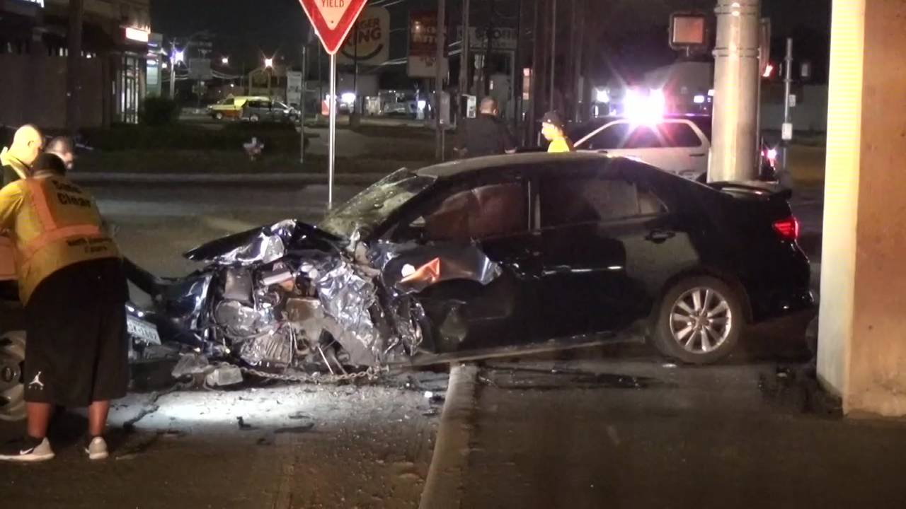 Eastex freeway chase crash 8-23-18