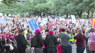 More than 20,000 Houstonians attend Women's March