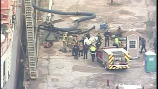 Men covered in molasses following rescue event on cargo ship in east Houston