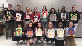 Lake Mary students create portraits of children for Memory Project