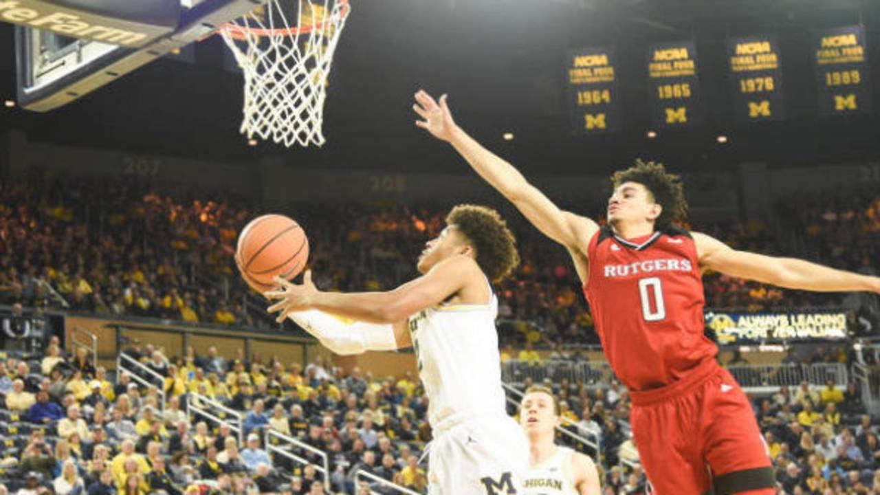 Jordan Poole Michigan basketball vs Rutgers 2018