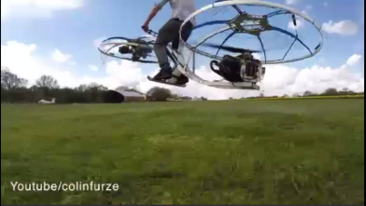 British man invents a hover-bike