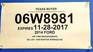Your Questions Answered: Does SAPD actively check temporary license plates?