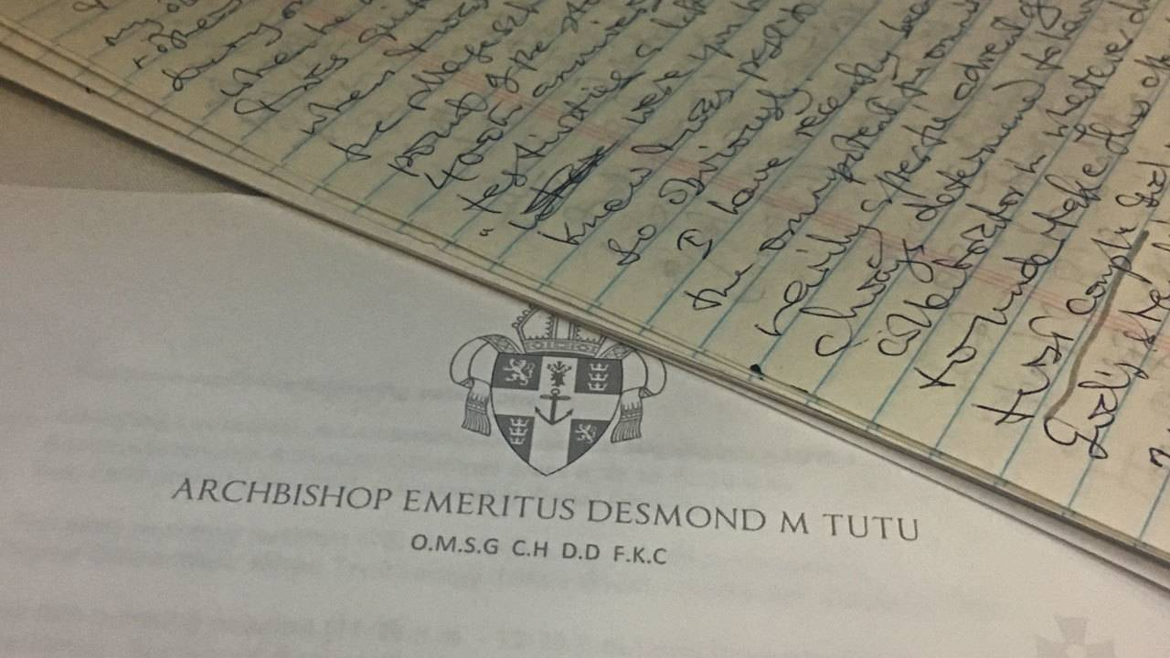 Archbishop Desmond Tutu Donates Papers To Unf Library