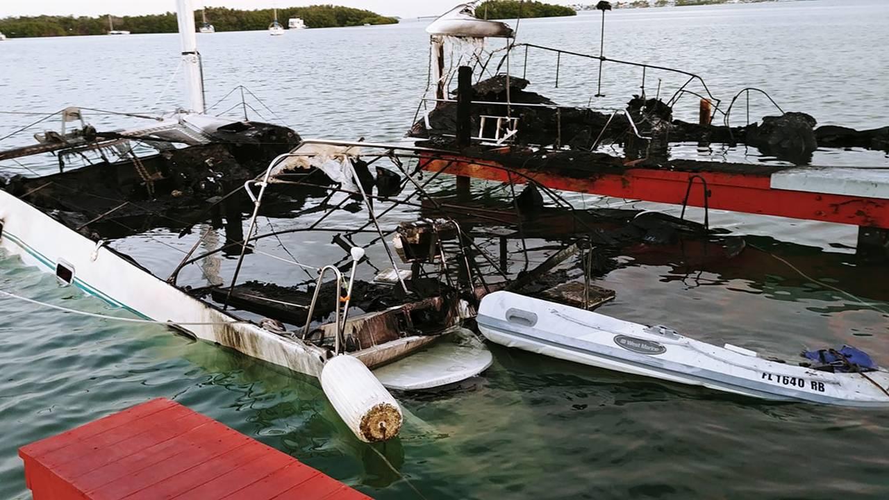 Aftermath of Florida Keys boat fires