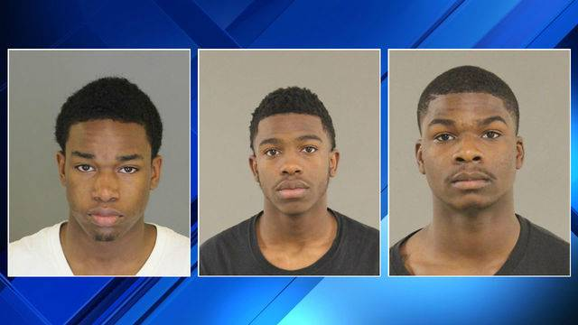 Dezman R. Fayne, Hawyard J. McAllister and Dorian Kellman are accused of an  armed robbery in Bloomfield Township. (WDIV)