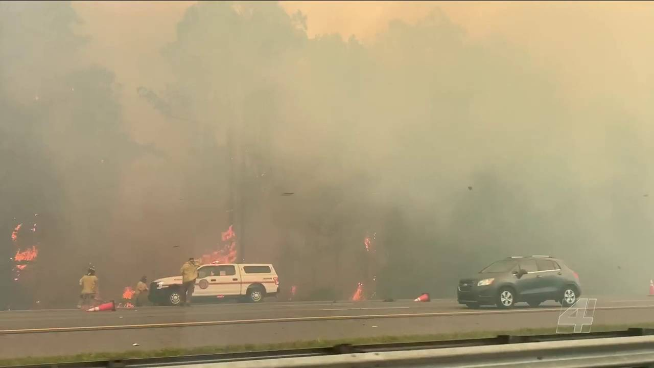 I-95 closed in northern Jacksonville, southern Nassau County due to wildfire20190523185713.jpg