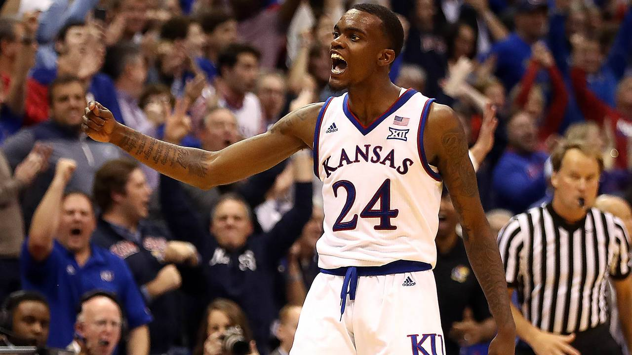Lagerald Vick Kansas basketball vs Stanford 2018