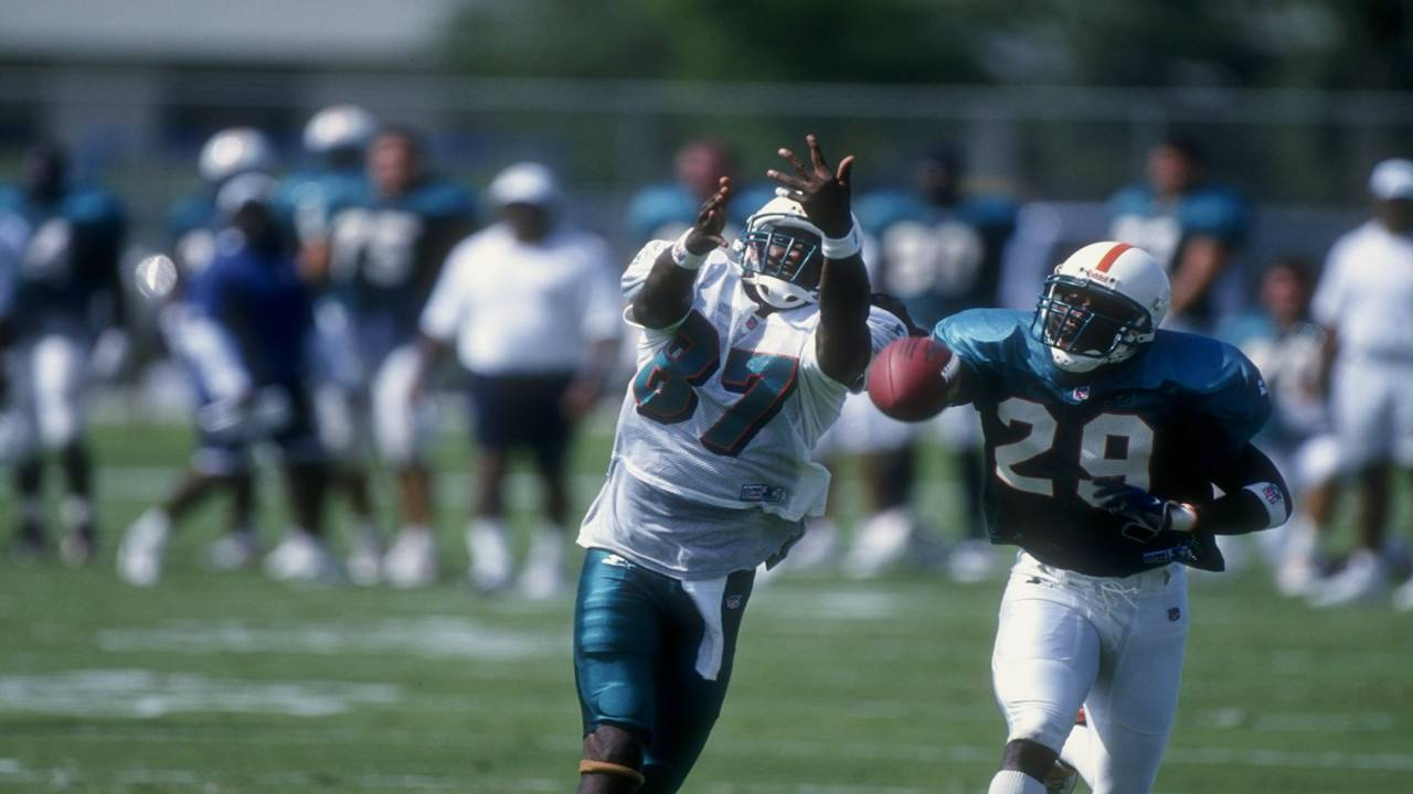 Yatil Green in Dolphins training camp in 1998