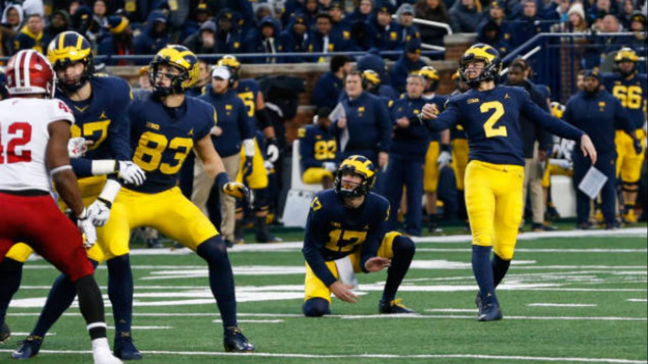 Jake Moody Michigan football vs Indiana 2018