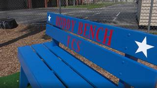 South Florida school creates 'buddy bench' to end bullying