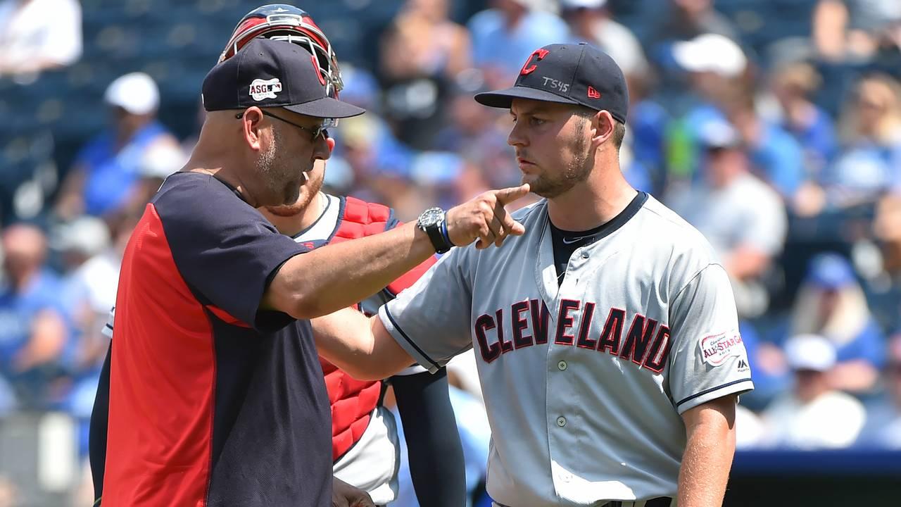 Trevor Bauer Terry Francona Cleveland Indians vs Royals 2019