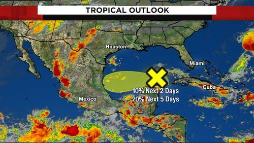 Tropical moisture in Gulf could bring weekend rain chances