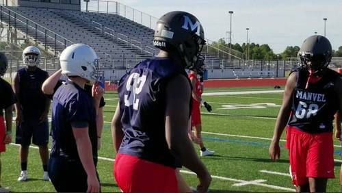 Manvel HS football team prepares for another run toward state championship