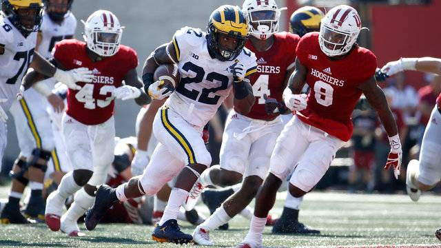 Karan Higdon touchdown run Michigan football vs Indiana 2017