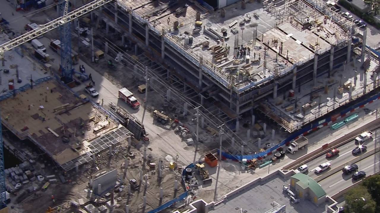 building where construction worker injured