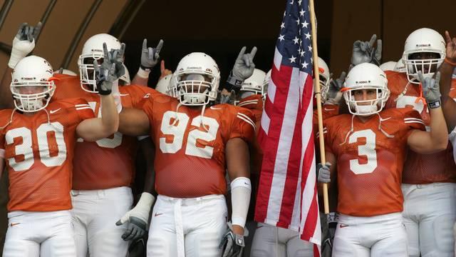 New Texas Longhorns Head Football Coach Takes Players Urine
