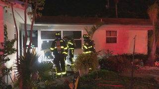1 seriously injured in Deerfield Beach house fire