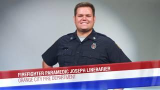 Firefighter Paramedic Joseph Linebarier of the Orange City Fire Department