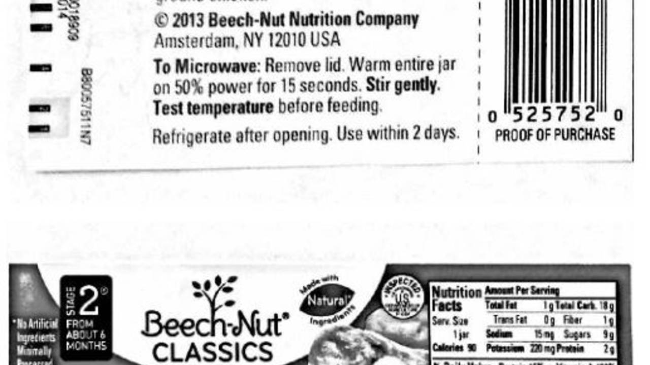 Company has received report of oral injury associated with recalled product