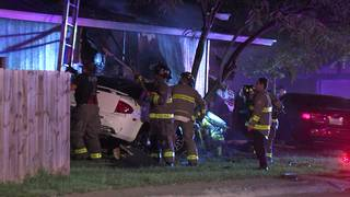 Feuding family members crash cars into NW Side home