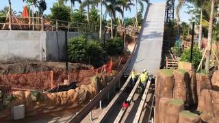 SeaWorld Orlando's new water ride Infinity Falls nears completion
