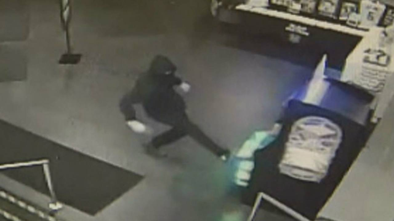 Utica Dave and Buster's suspect kicks Pac-Man