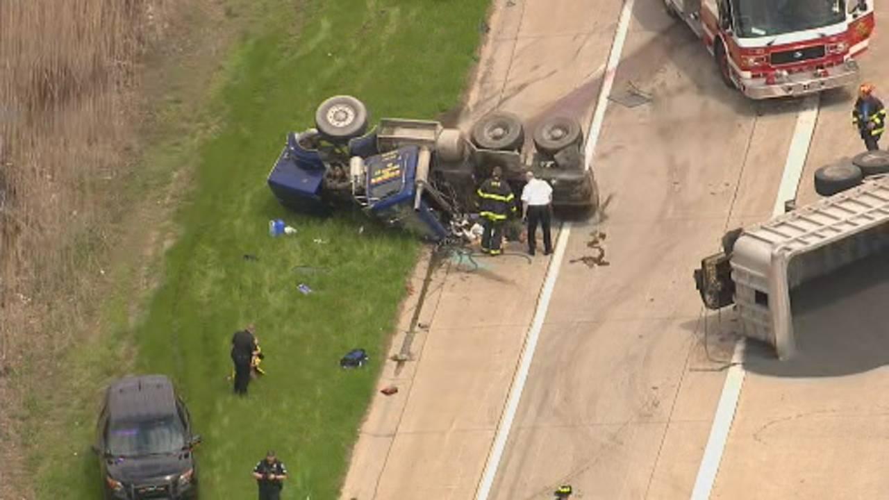 Gravel hauler crash I-75 3