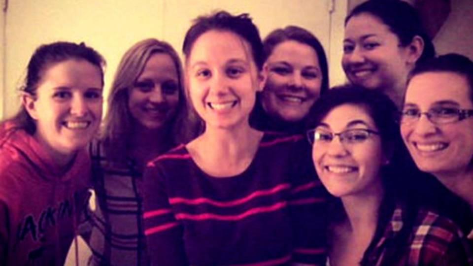 Danielle Stislicki's with her friends