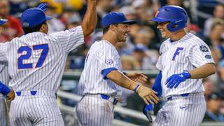 Gators hold off Texas Tech 9-6 at College World Series
