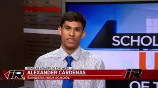 Scholar Athlete: Alexander Cardenas, Bandera High School