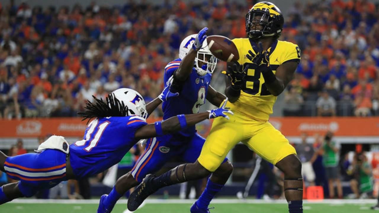 Nick Eubanks catch Michigan football vs Florida 2017