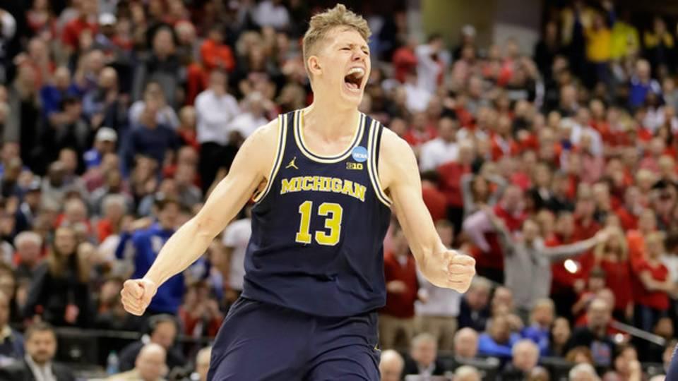 Moritz Wagner Michigan basketball vs Louisville 2017 NCAA Tournament