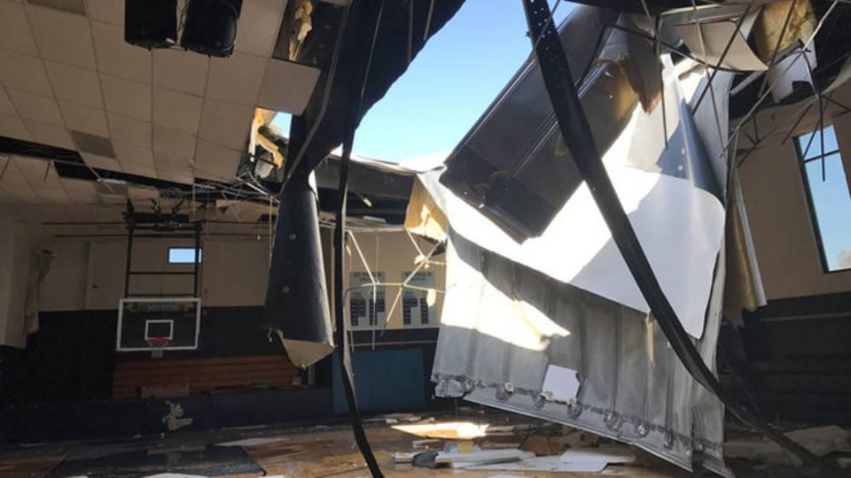 Irma damage Jacksonville Beach St. Paul's Catholic School 2
