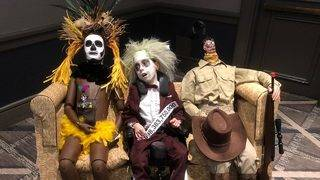 9-Year-Old With Cerebral Palsy Dons Elaborate Beetlejuice Costume for Halloween