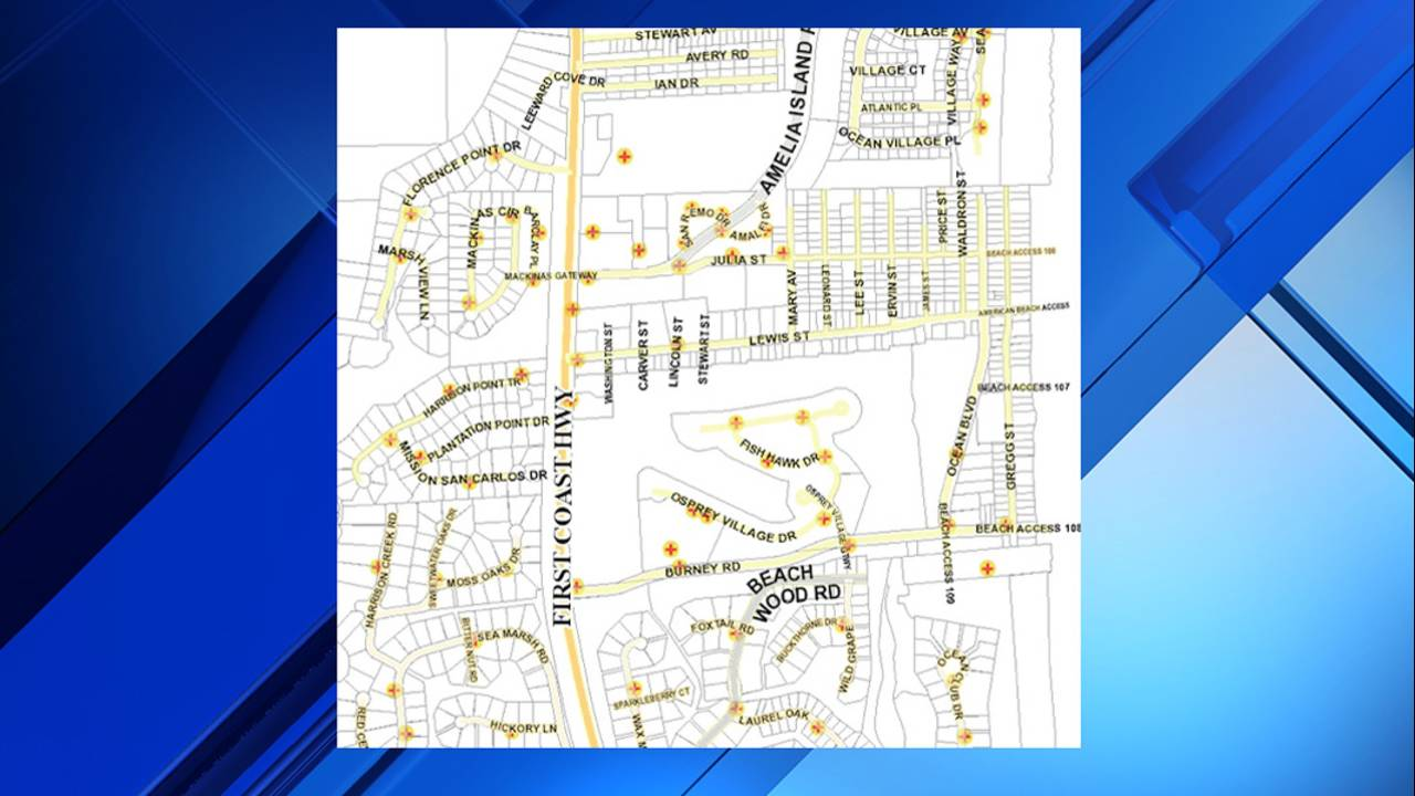 06-17 Map shows fire hydrants in the area