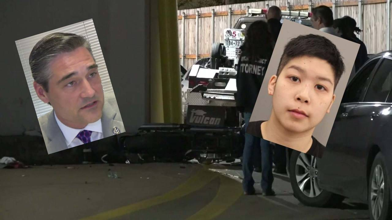 Sean Teare and Julivan Tran over crash scene on voss fatal