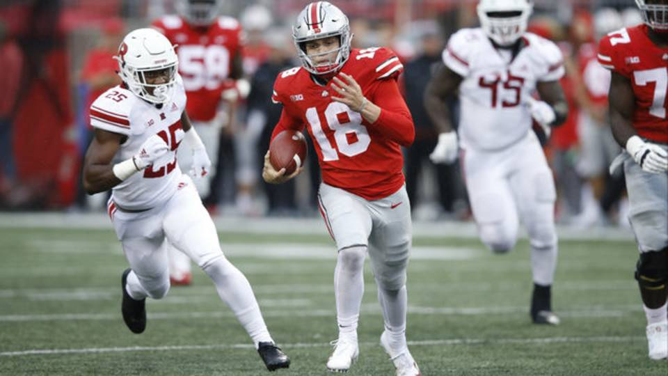 Tate Martell Ohio State football vs Rutgers 2018