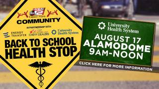 "KSAT Community hosts ""Back to School Health Stop"" on Aug. 17"