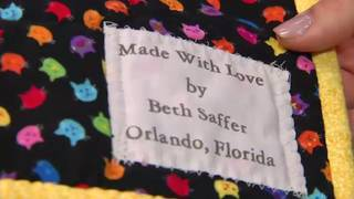 Woman sews hundreds of quilts for patients at Florida Hospital