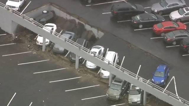 Detroit parking deck collapse 2