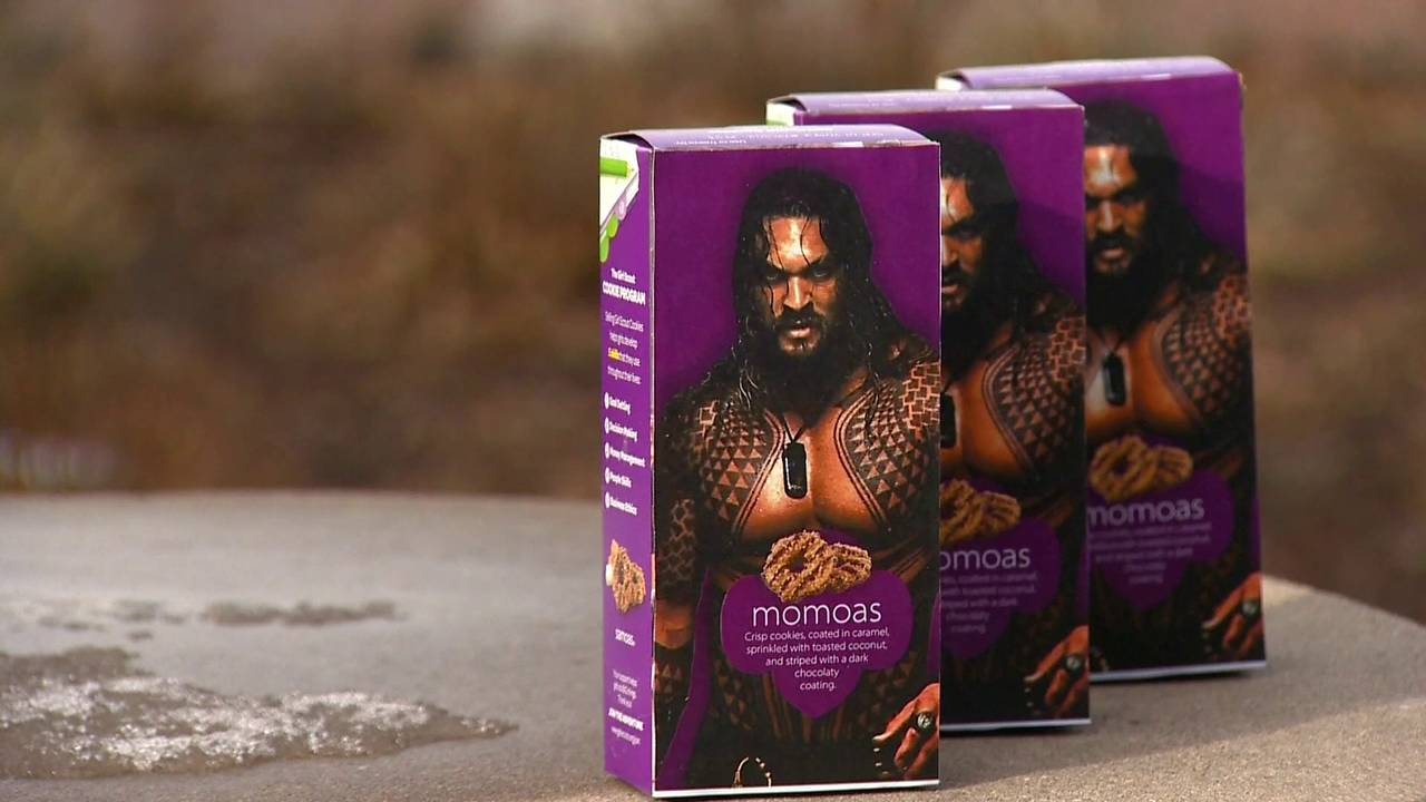 Girl Scout Puts Picture Of Shirtless Jason Momoa On Boxes Of