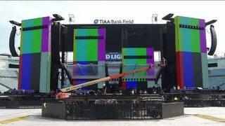 Rolling Stones in Jacksonville; stadium being transformed into concert venue