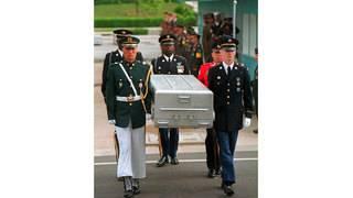 US moves 100 coffins to inter-Korean border for war remains