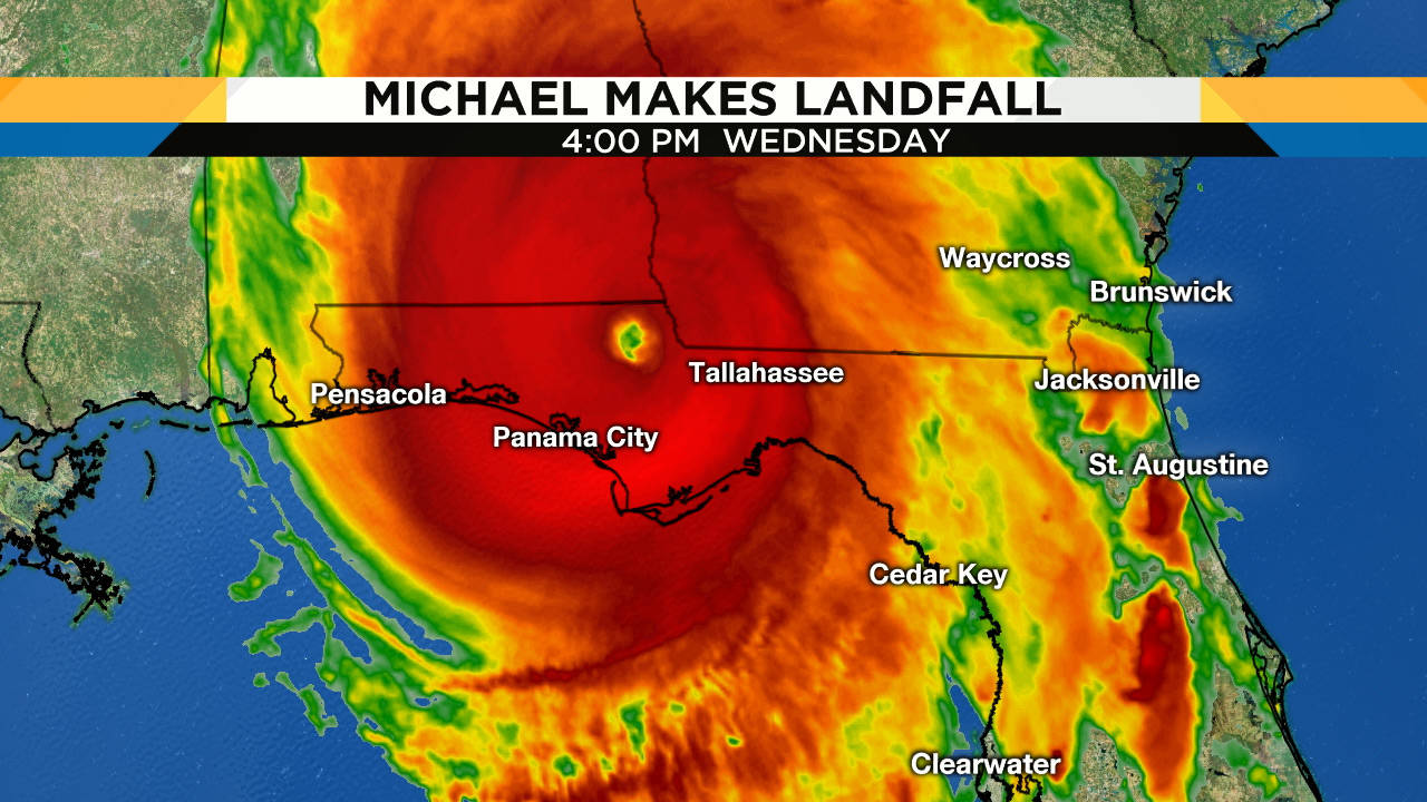 Hurricane Michael Slams Into Florida As Strong Category 4 Storm