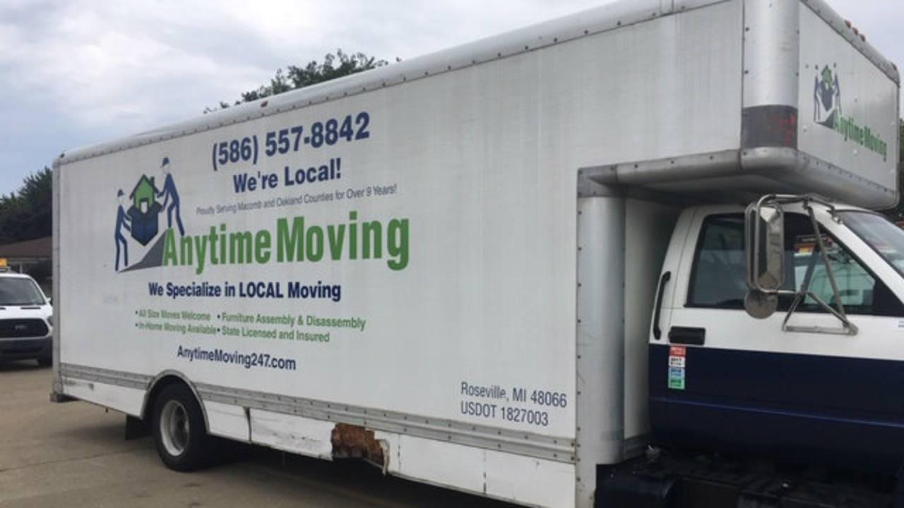 Anytime Moving truck Roseville