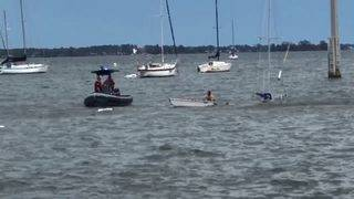 Couple left homeless after sailboat sinks