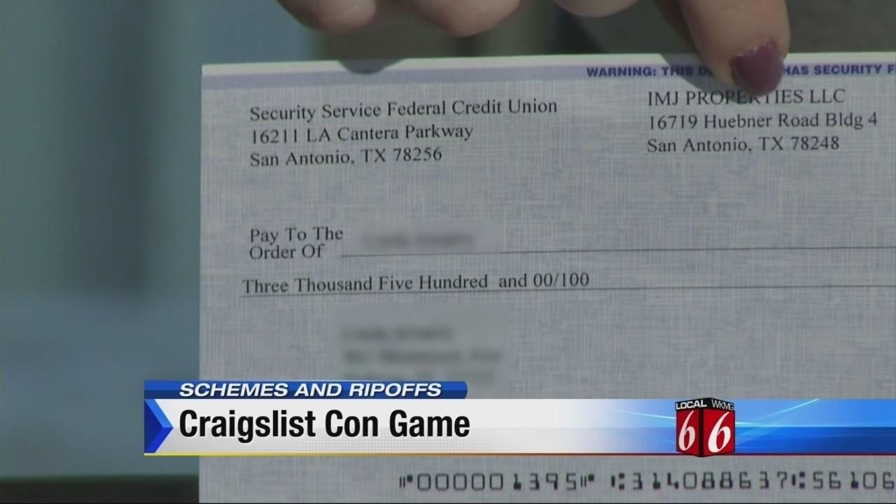 Schemes and Ripoffs: Craigslist scam