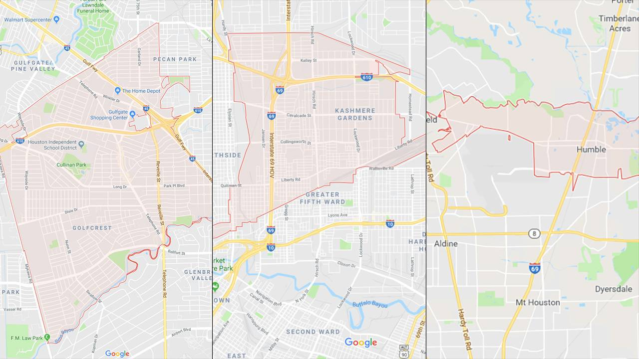 Zip Code Map Houston Area.Mosquitoes In 3 Harris County Zip Codes Test Positive For West